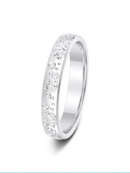 3mm 0.13ct bubbles pattern diamond wedding ring