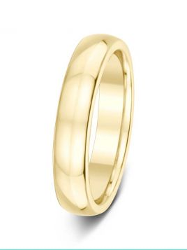Ladies 4mm D-shape comfort fit plain band ring (medium)