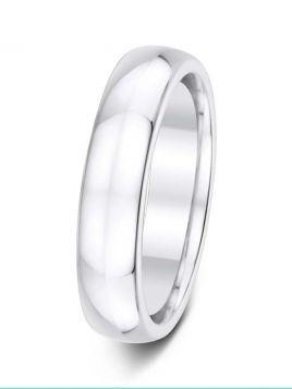 Ladies 5mm D-shape comfort fit plain band ring (Medium)