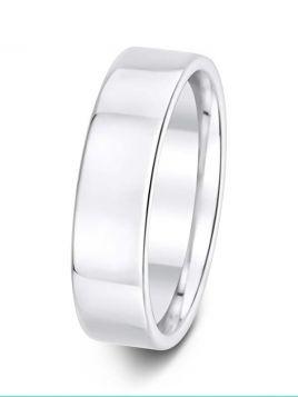 Gents 6mm flat comfort fit plain band ring (Medium)