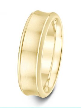 7mm Swiss made brushed / polished concave wedding ring