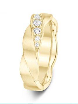 5mm Swiss made twisted diamond wedding ring