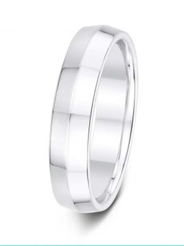 4mm Swiss made  bevelled wedding ring