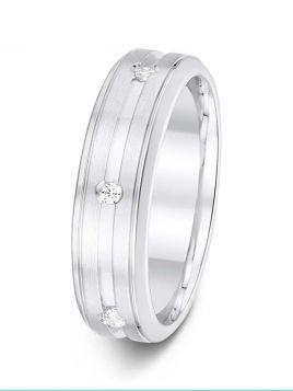 5.5mm Swiss made drop-set diamond patterned wedding ring