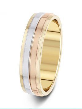 5.5mm polished raised groove wedding ring