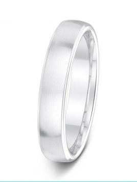 4.5mm polished bevelled edge with rounded satin centre wedding ring