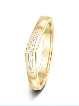 2.9mm 0.11ct channel set eternity diamond wedding ring