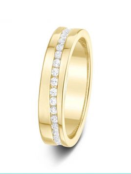 4.1mm 0.50ct channel set full eternity diamond wedding ring