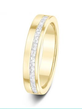 4mm 0.50ct channel set half eternity diamond wedding ring