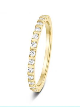 1.7mm 0.25ct polished bar set round brilliant cut diamond eternity ring