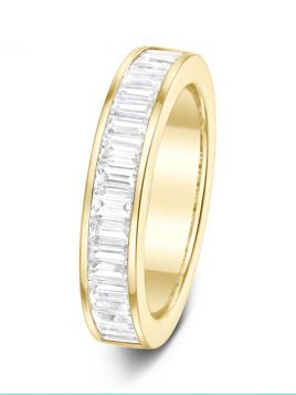 4.4mm 1.00ct channel set baguette cut diamond eternity ring