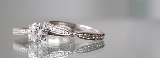 Pinched Diamond Wedding Ring