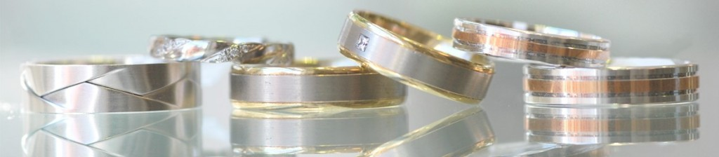 Two Gold wedding rings, diamond wedding rings for men