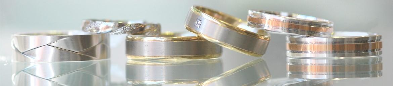 Two Gold wedding rings, diamond wedding rings for men