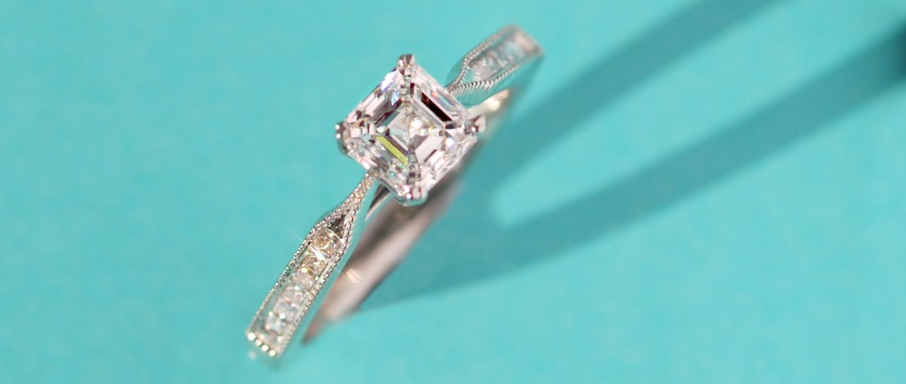 Art deco gatsby inspired engagement ring