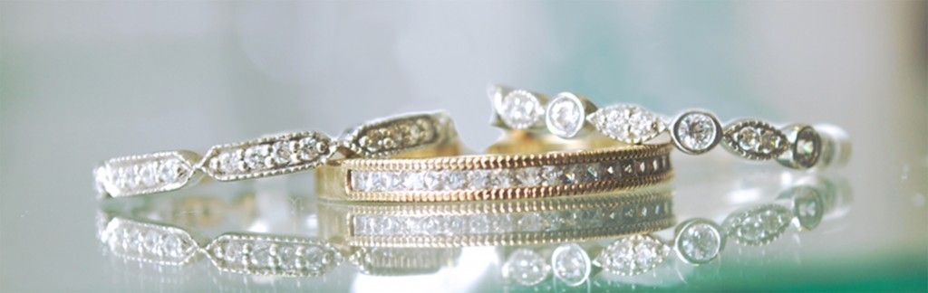 Vintage diamond wedding rings